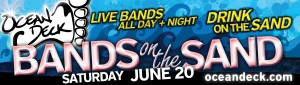 bands in the sand.june 20