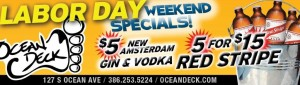 Ocean Deck - Labor Day Red Stripe Specials